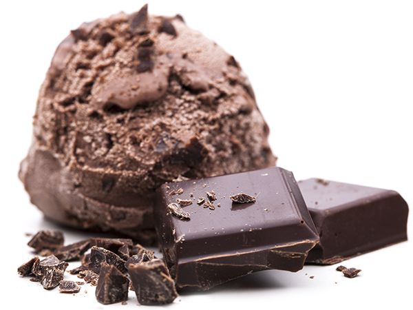 Chocolate is ice cream sage scoop